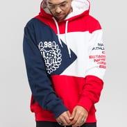 Mass DNM Republic Hoody červená / navy / bílá