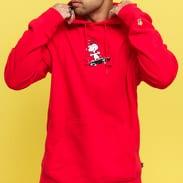 HUF Peanuts Snoopy Skates Hooded Sweatshirt červená