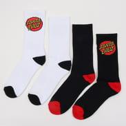 Santa Cruz Classic Dot Sock 2 Pack bílé / černé