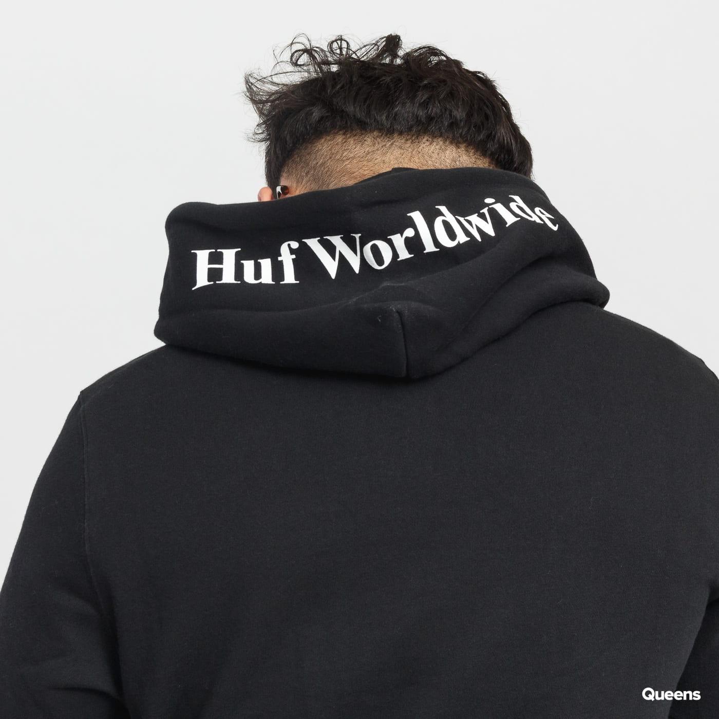 HUF Essentials Box Logo PO Hoodie čierna