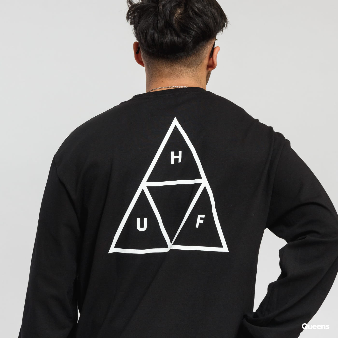 HUF Essentials Triple Triangle LS Tee puma black