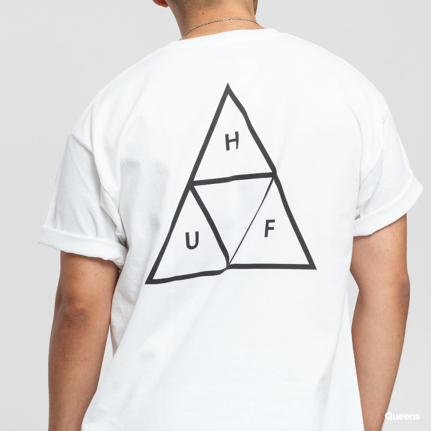 HUF Essentials Triple Triangle SS Tee weiß