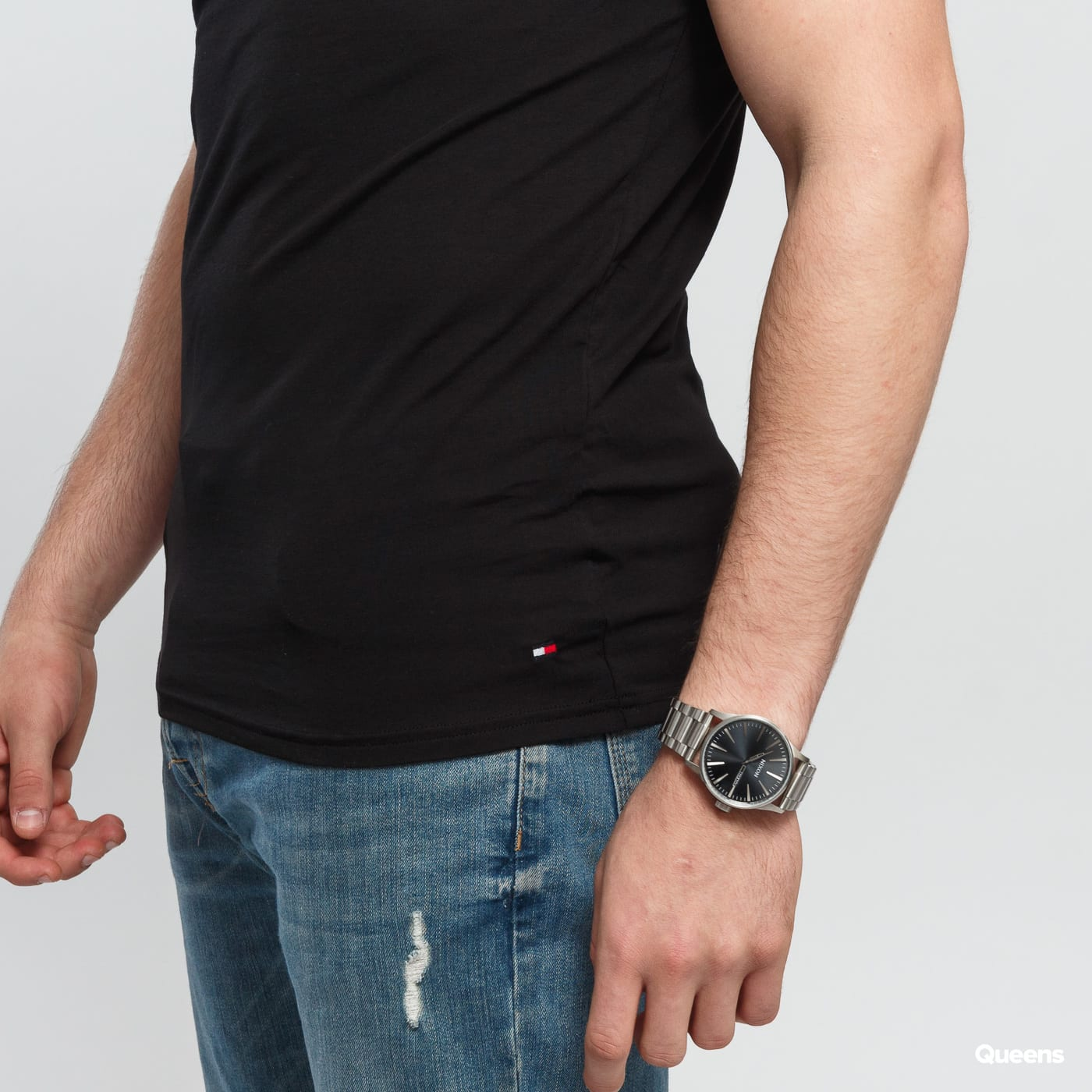 Tommy Hilfiger 3 Pack Crew Neck SS Premium Essentials C/O black