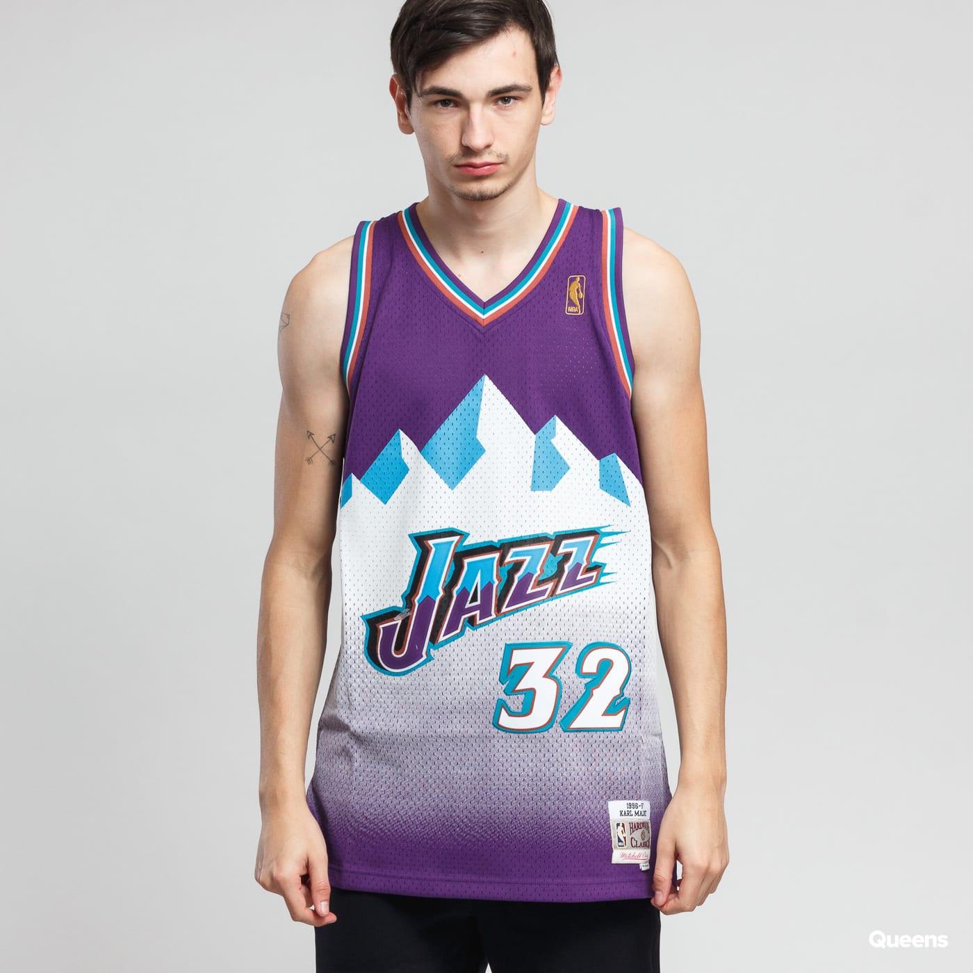 meet cb60b 56a23 Mitchell & Ness NBA Swingman Jersey Utah Jazz purple / white
