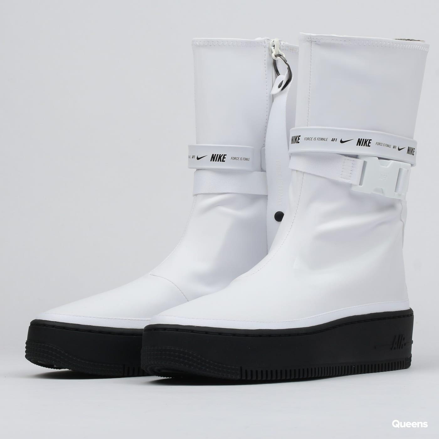 detailed look 2fb4a 47d76 Nike W AF1 Sage HI white / white - black