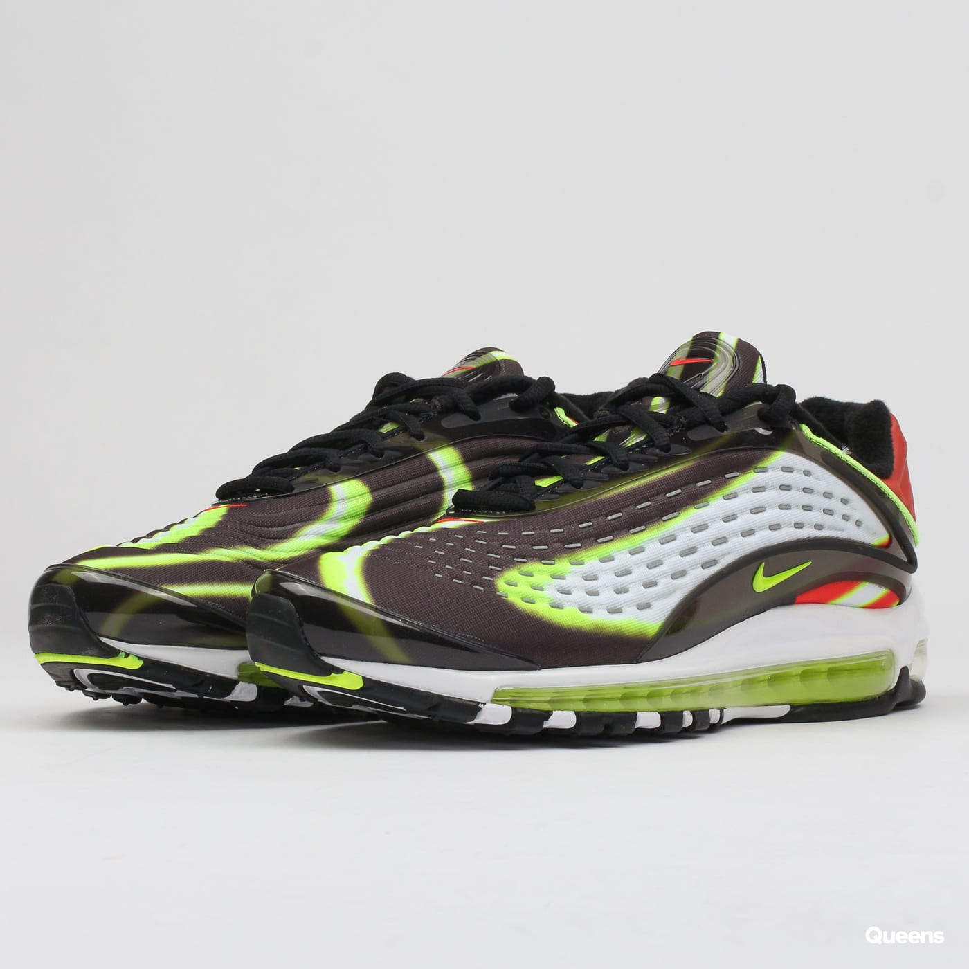 c1f56fe6d1 Sneakers Nike Air Max Deluxe black / volt - habanero red - white (AJ7831-003)  – Queens 💚