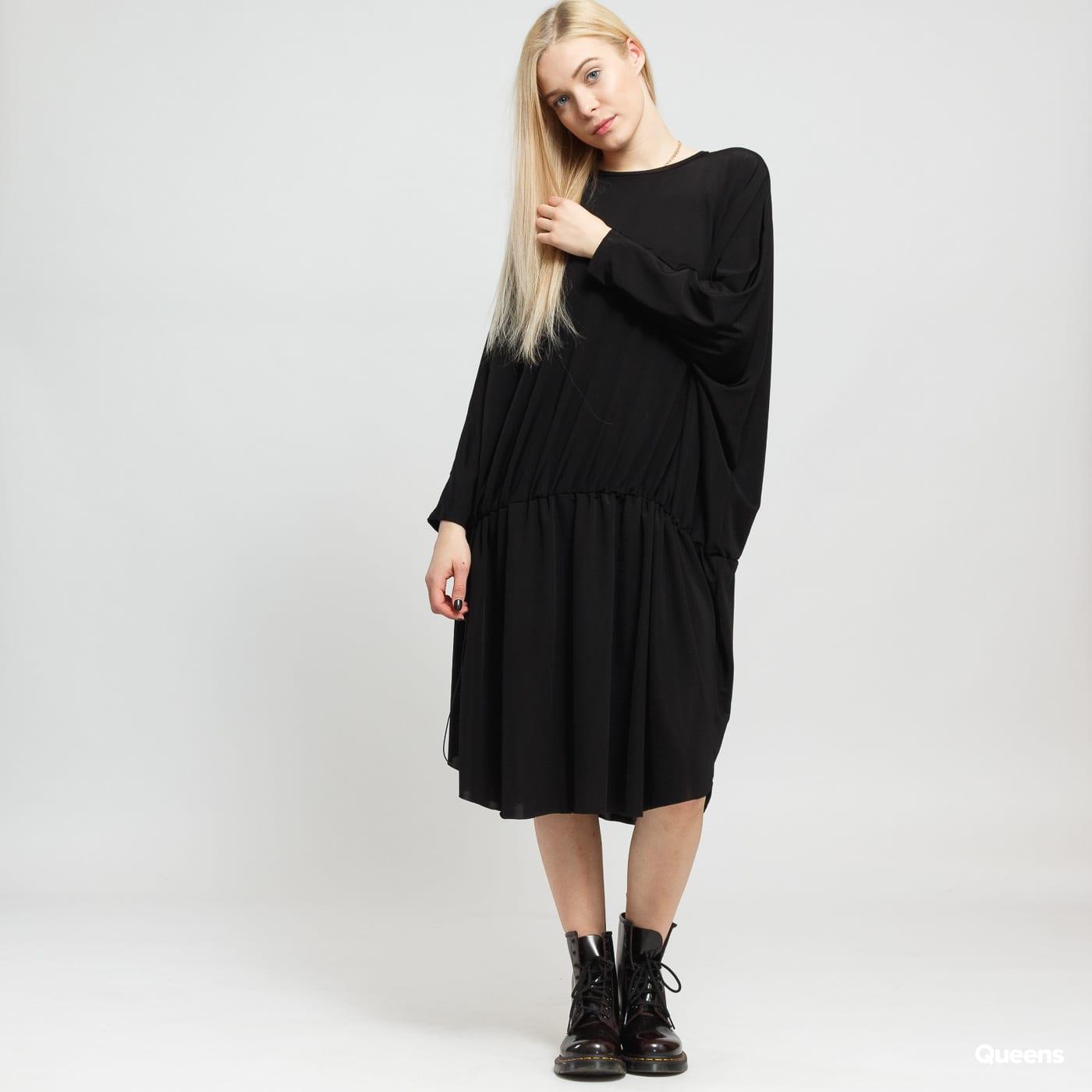 ODIVI Intense Drape Dress čierne