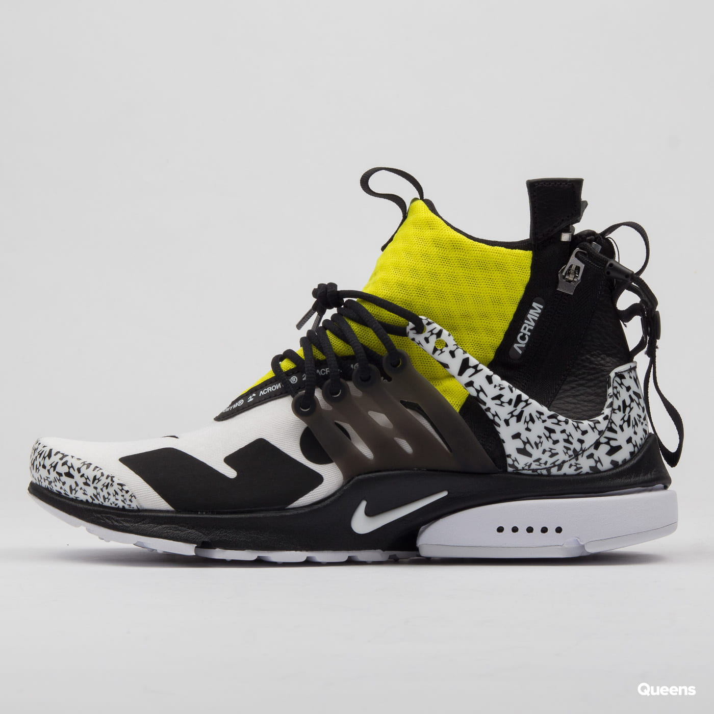 Nike Air Presto Mid Acronym white black dynamic yellow