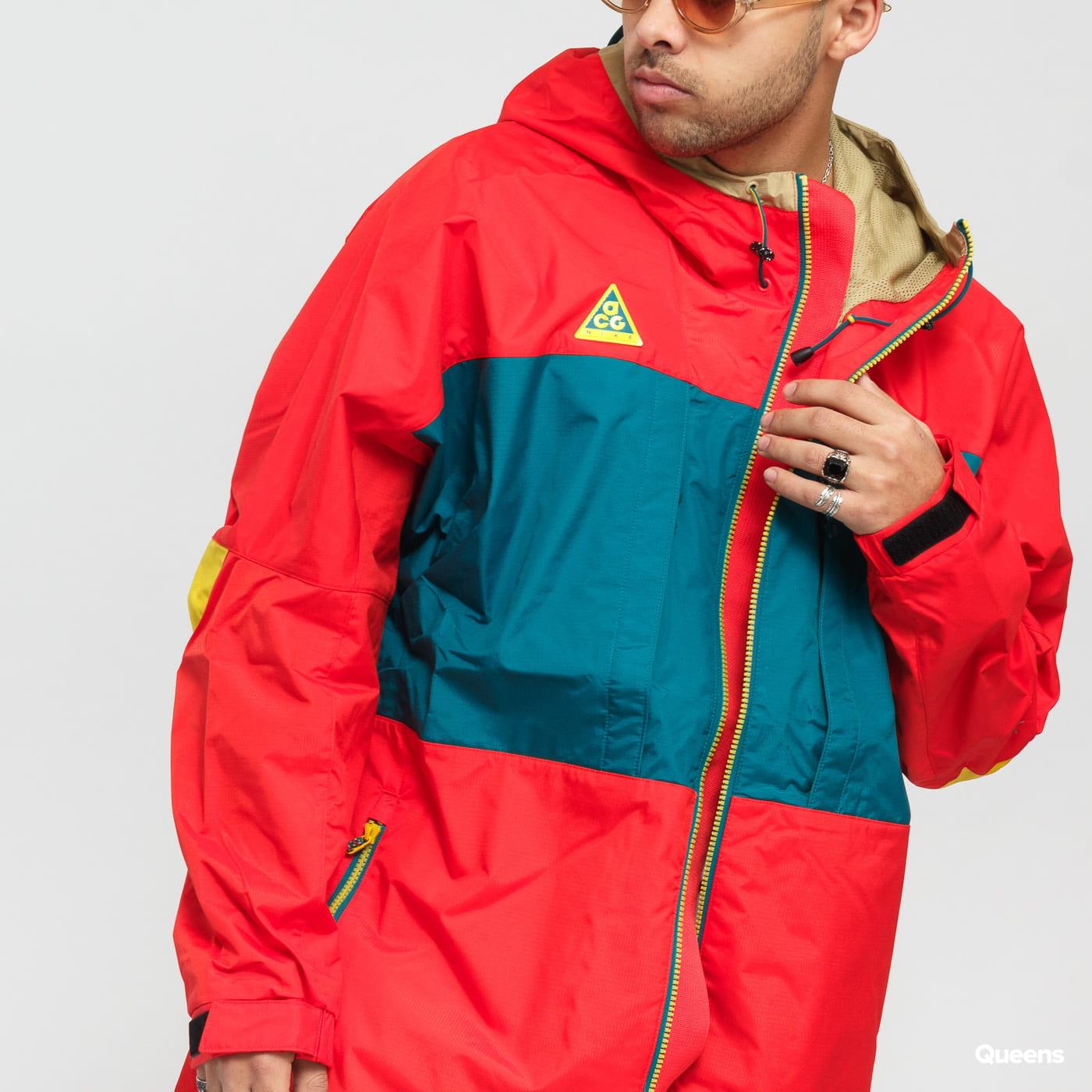 Nike M NSW ACG Anorak red / dark turquoise