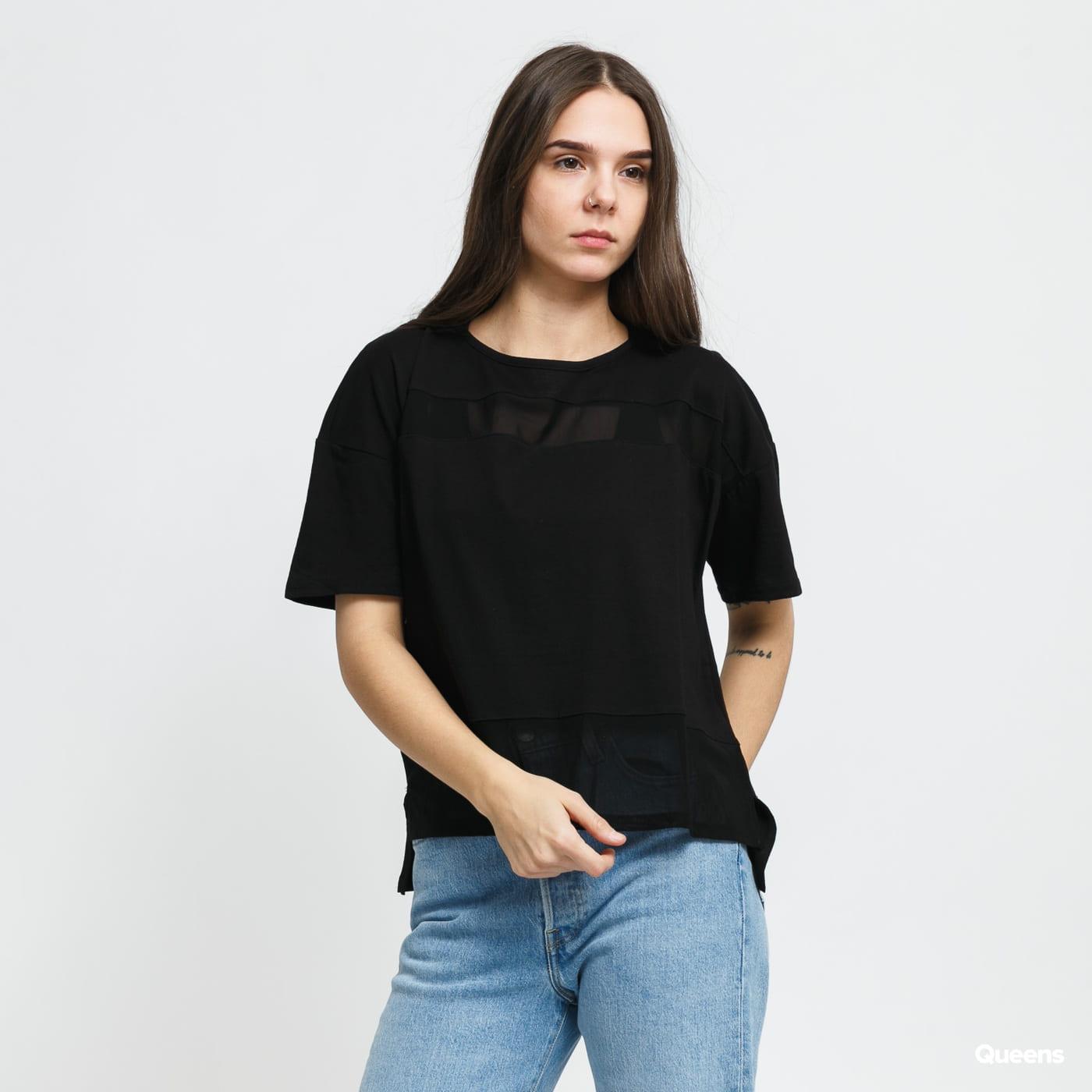 Urban Classics Ladies Tech Mesh Tee čierne