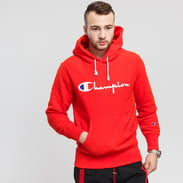 Champion Reverse Weave Hooded červená