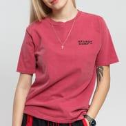 Stüssy Corp. Pig. Dyed Tee tmavě růžové