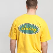 Stüssy Oval Pig. Dyed Tee žluté