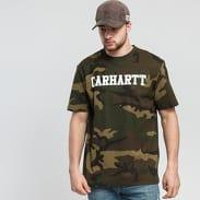 Carhartt WIP College Script Tee camo zelené