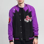Mitchell & Ness NBA Authentic Warm Up Jacket Toronto Raptors fialová / černá