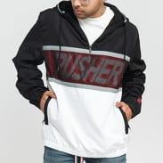 PUSHER Mesh Windbreaker černá / bílá