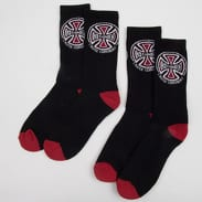 INDEPENDENT Truck Co. 2Pack Socks schwarz / rot / weiß