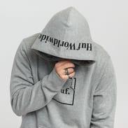 HUF Box Logo PO Hoodie melange šedá