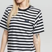 Stüssy Murray Striped T-Shirt Dress černé / bílé