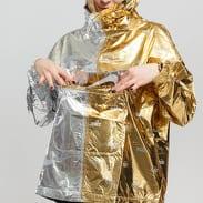 Nike W NSW Metallic Jacket stříbrná / zlatá