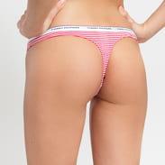 Tommy Hilfiger 3 Pack Thong Stripe Print růžové / bílé / navy