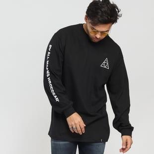eb89f8222682 Pánske tričká s dlhým rukávom (čierna)