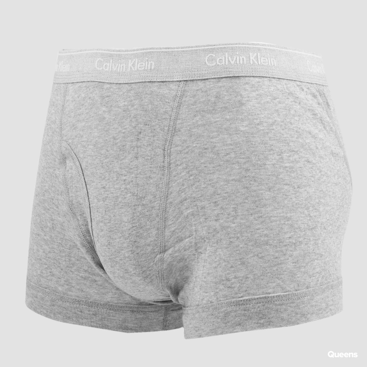 Calvin Klein 3 Pack Classic Fit Trunks bílé / černé / melange šedé