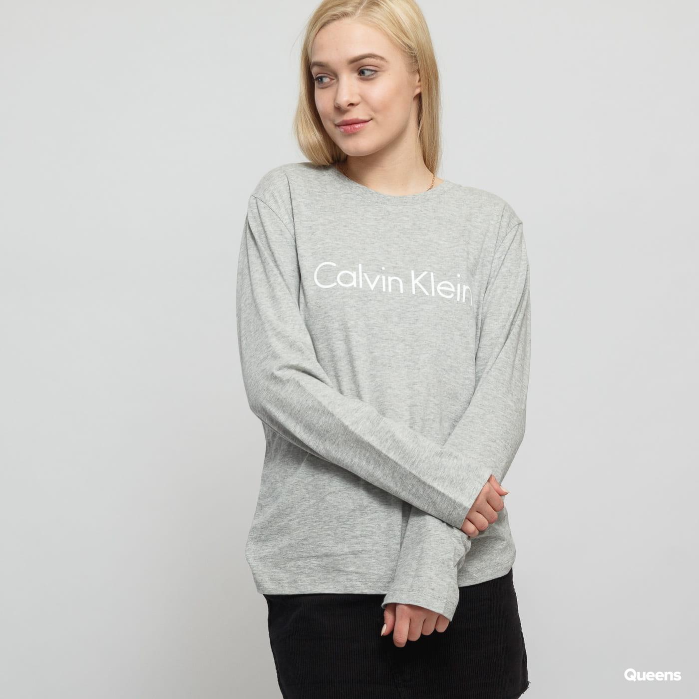 Calvin Klein LS Crew Neck C/O grau melange