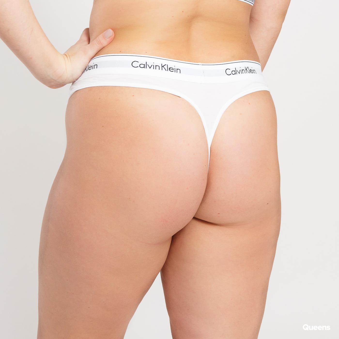 Calvin Klein Thong Plus Size C/O weiß