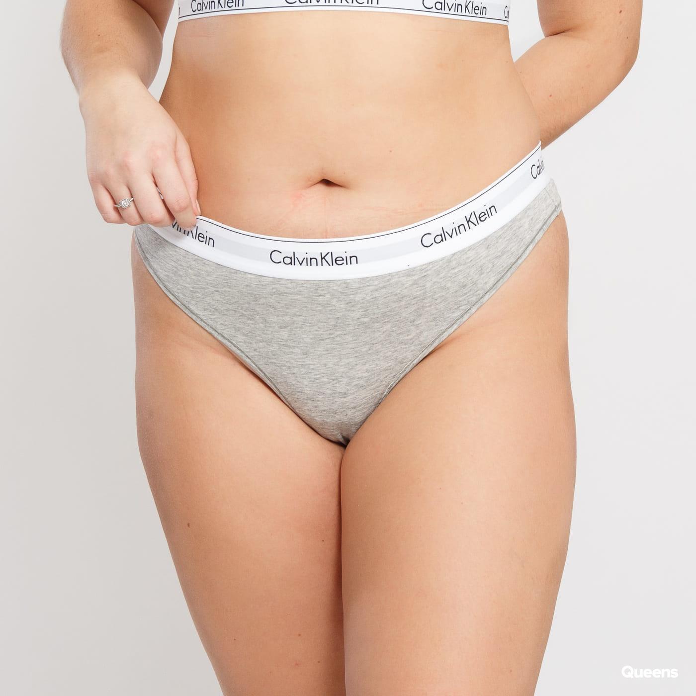 Calvin Klein Thong Plus Size C/O melange gray