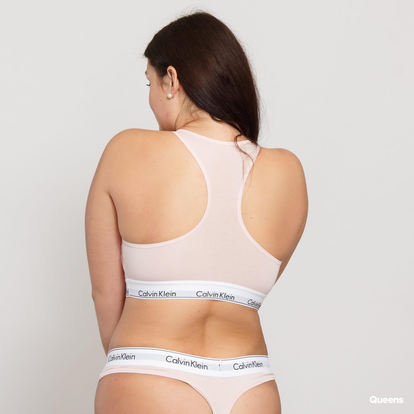 Calvin Klein Unlined Bralette Plus Size C/O hellrosa