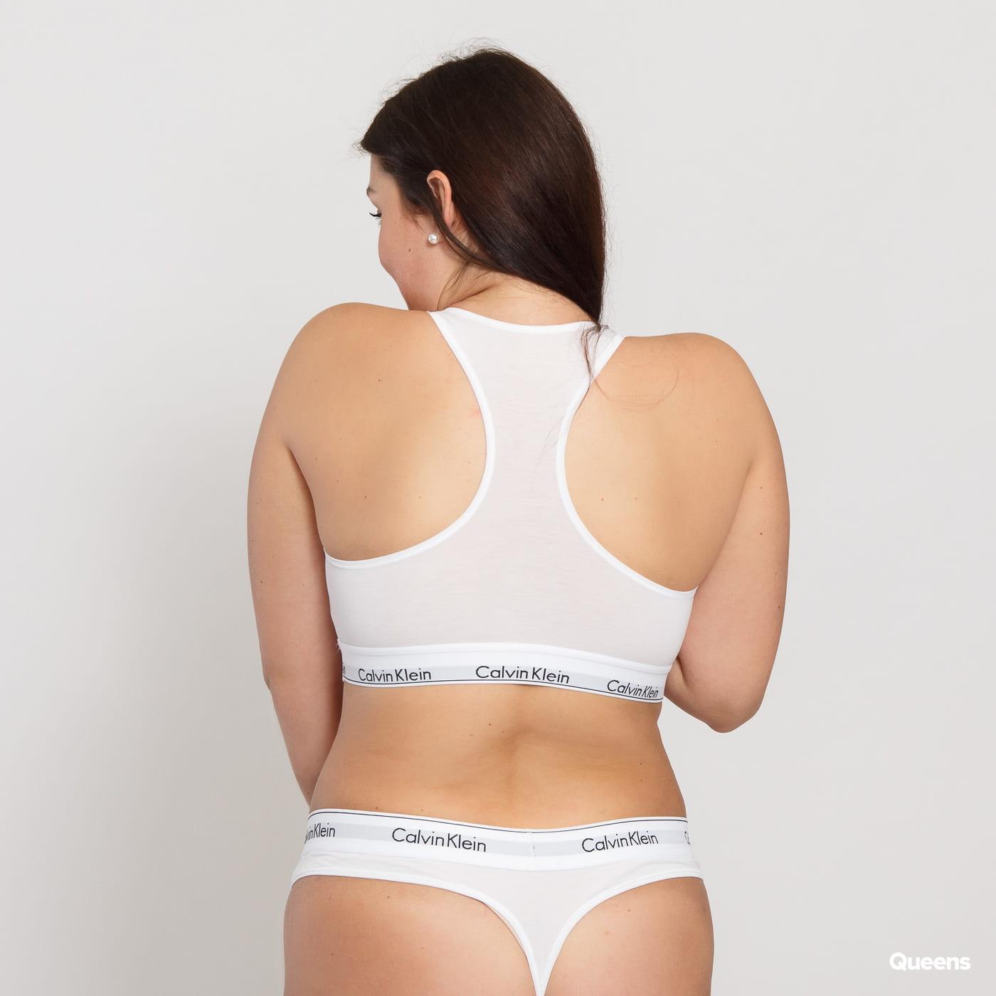 Calvin Klein Unlined Bralette Plus Size C/O white