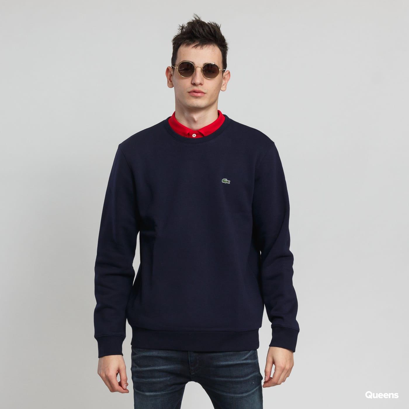 Mikina LACOSTE Crew Neck Cotton Fleece Sweatshirt (SH9203) – Queens 💚 6fe117ed404
