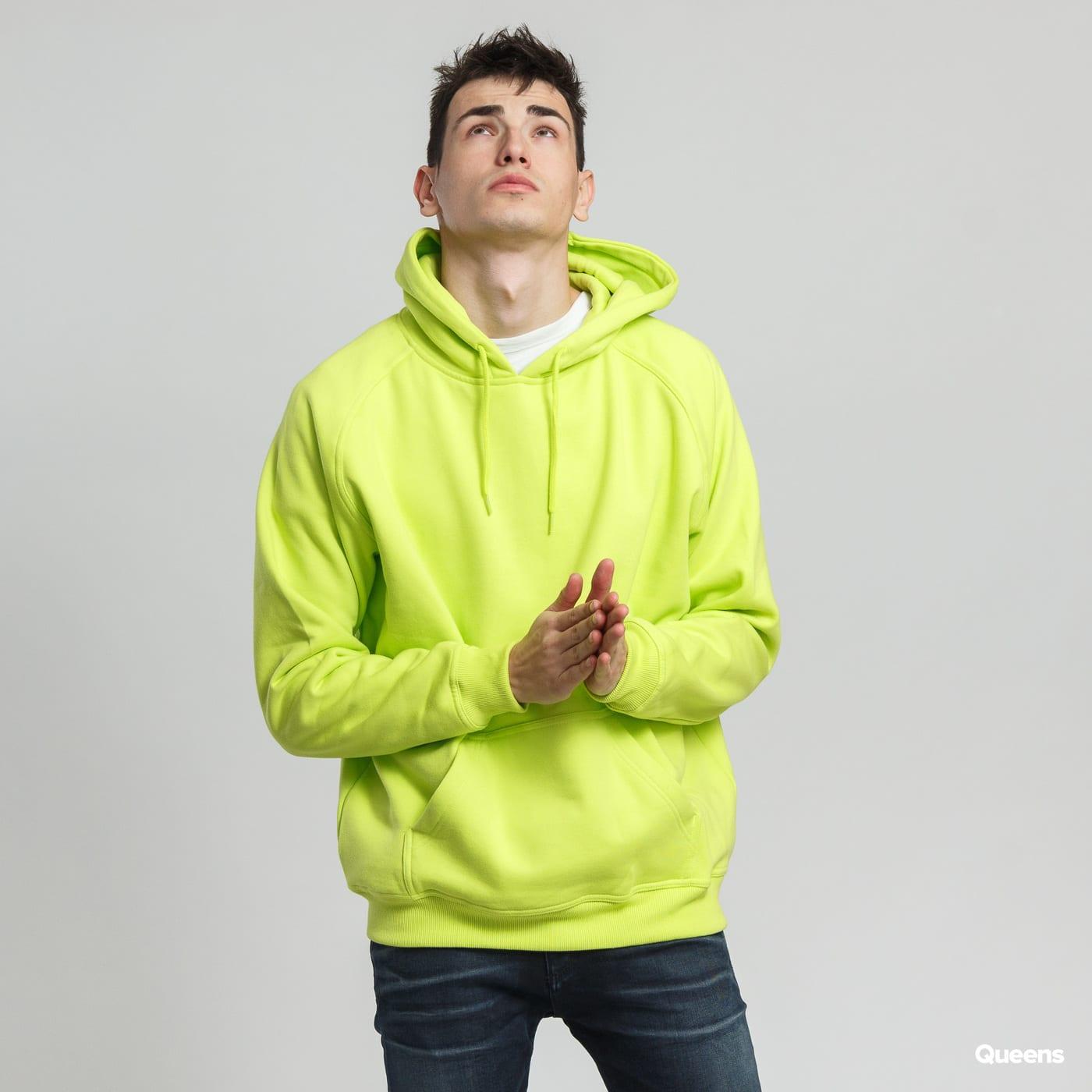 Urban Classics Blank Hoody neon grün