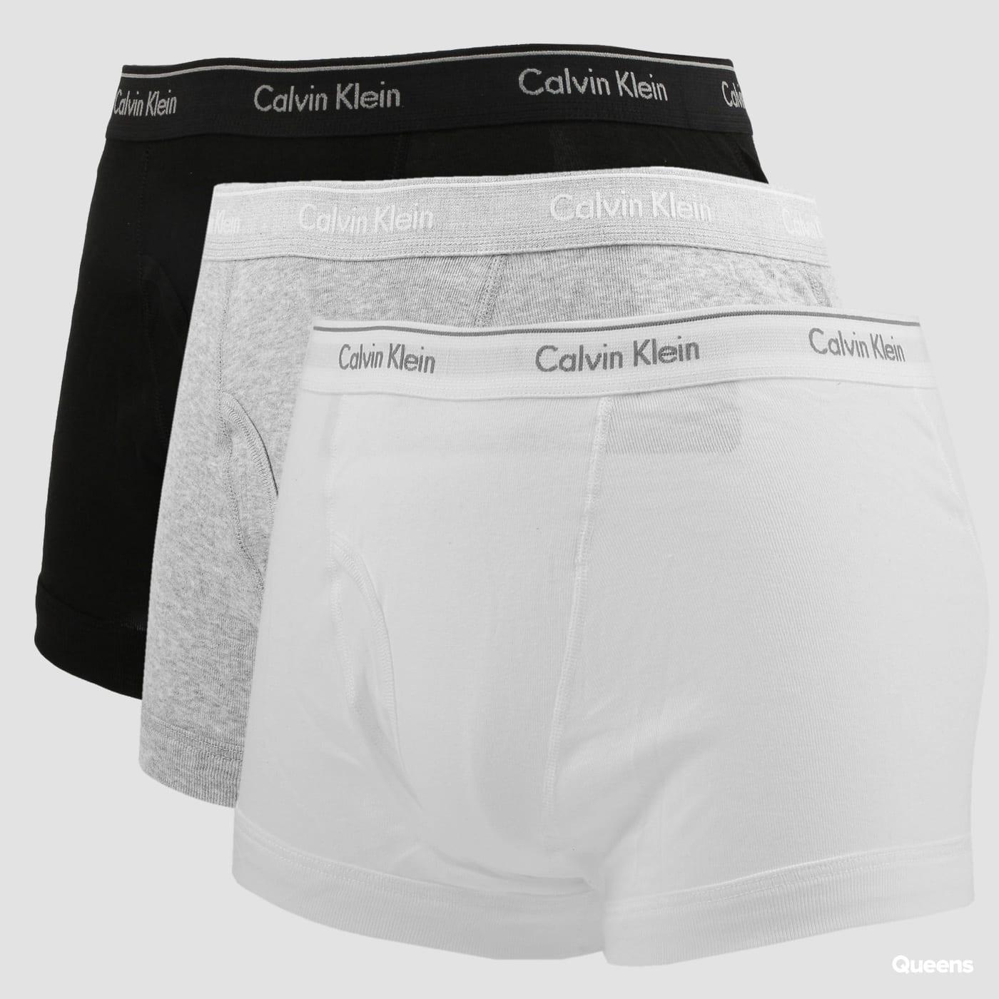 Calvin Klein 3 Pack Classic Fit Trunks C/O biele / čierne / melange šedé