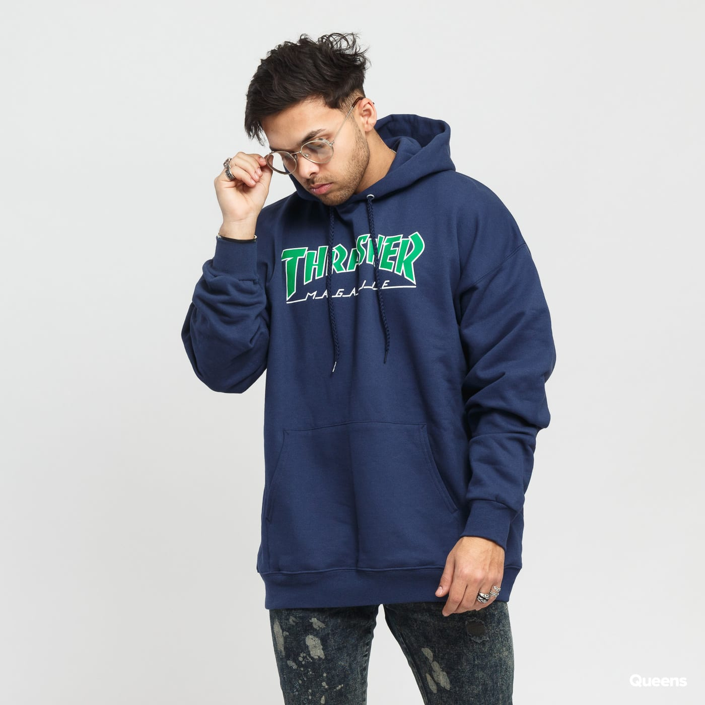 Mikina Thrasher Outlined Hoody – Queens 💚 76aa660157d