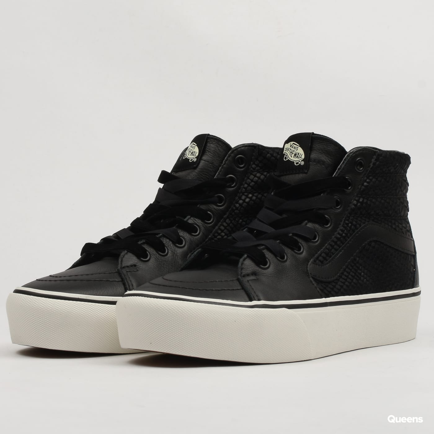 Vans SK8-HI Platform 2 (leather) snake / black