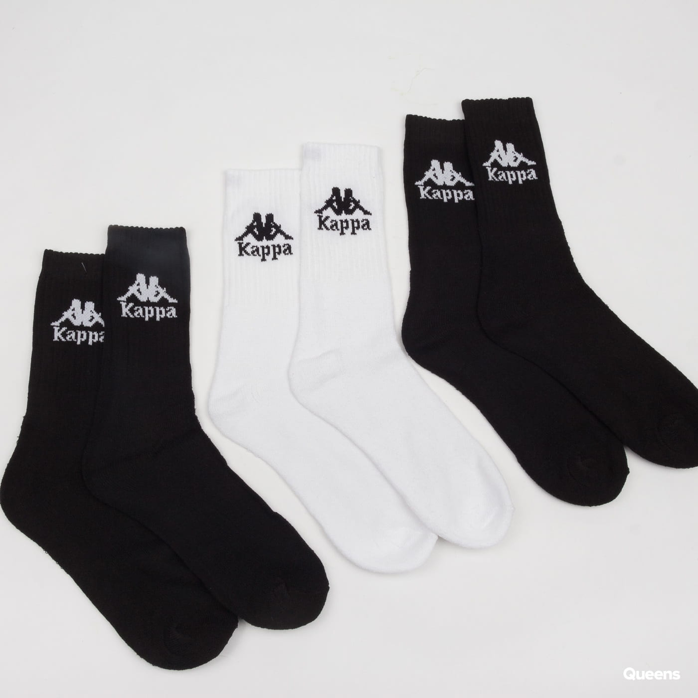 Kappa Authentic Ailel 3Pack čierne / biele