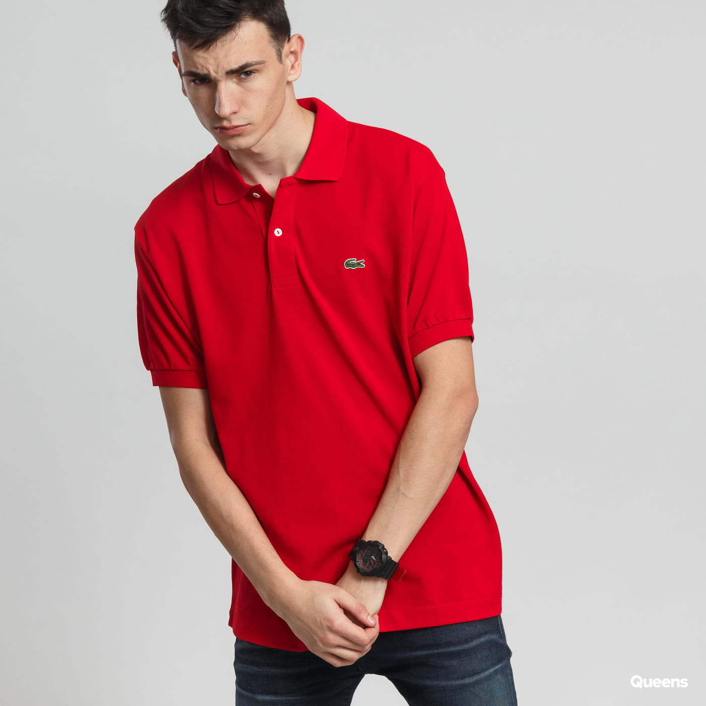 LACOSTE Men's Classic Polo rot