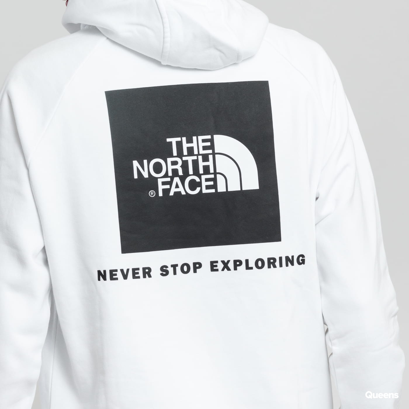The North Face M Raglan Red Box Hoody weiß