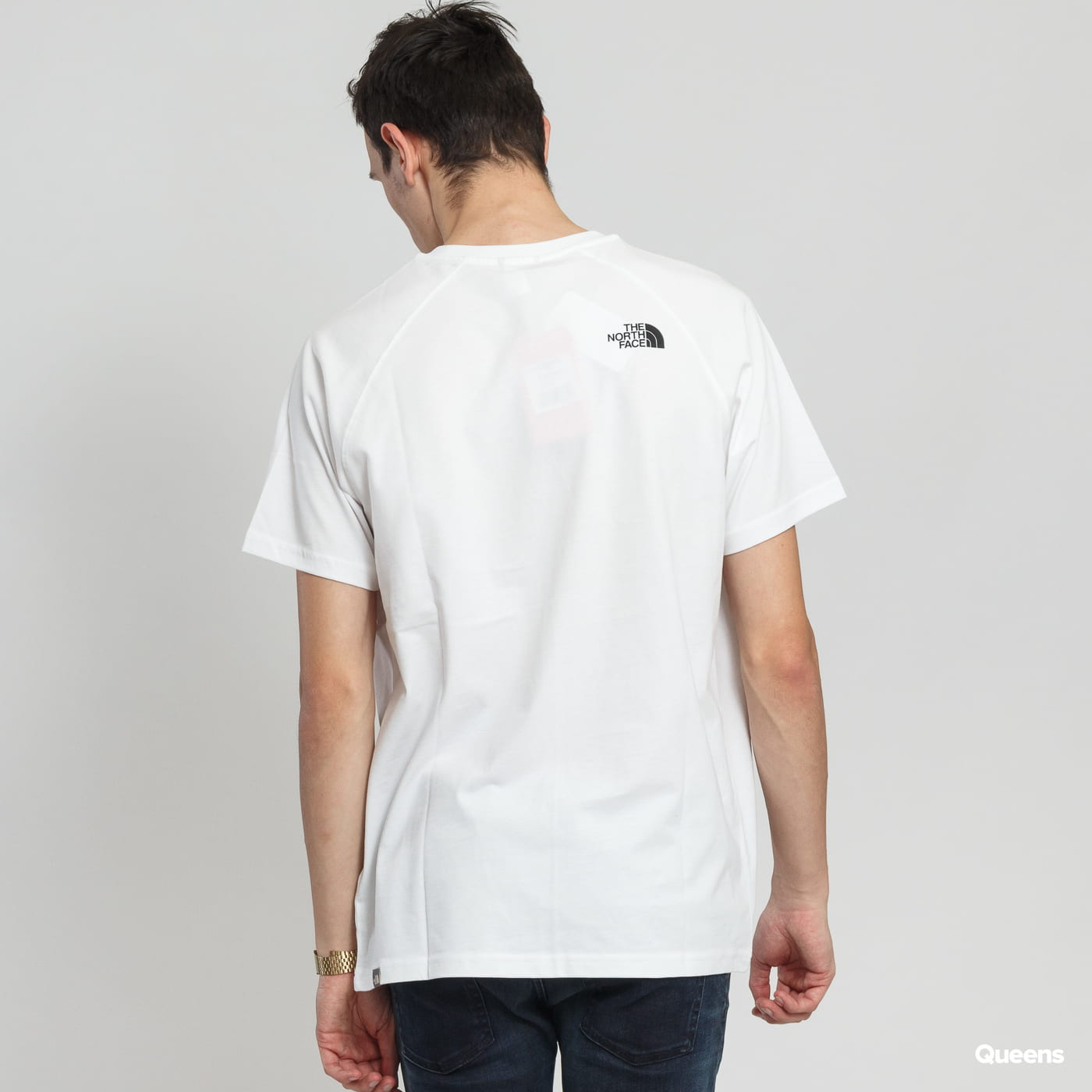 The North Face M SS Rag Red Box Tee weiß