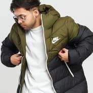 Nike M NSW Down Fill Windrunner Jacket černá / olivová