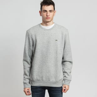 LACOSTE Crew Neck Cotton Fleece Sweatshirt
