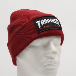 019736a90c Zimná čiapka Thrasher Logo Patch Beanie vínový – Queens 💚