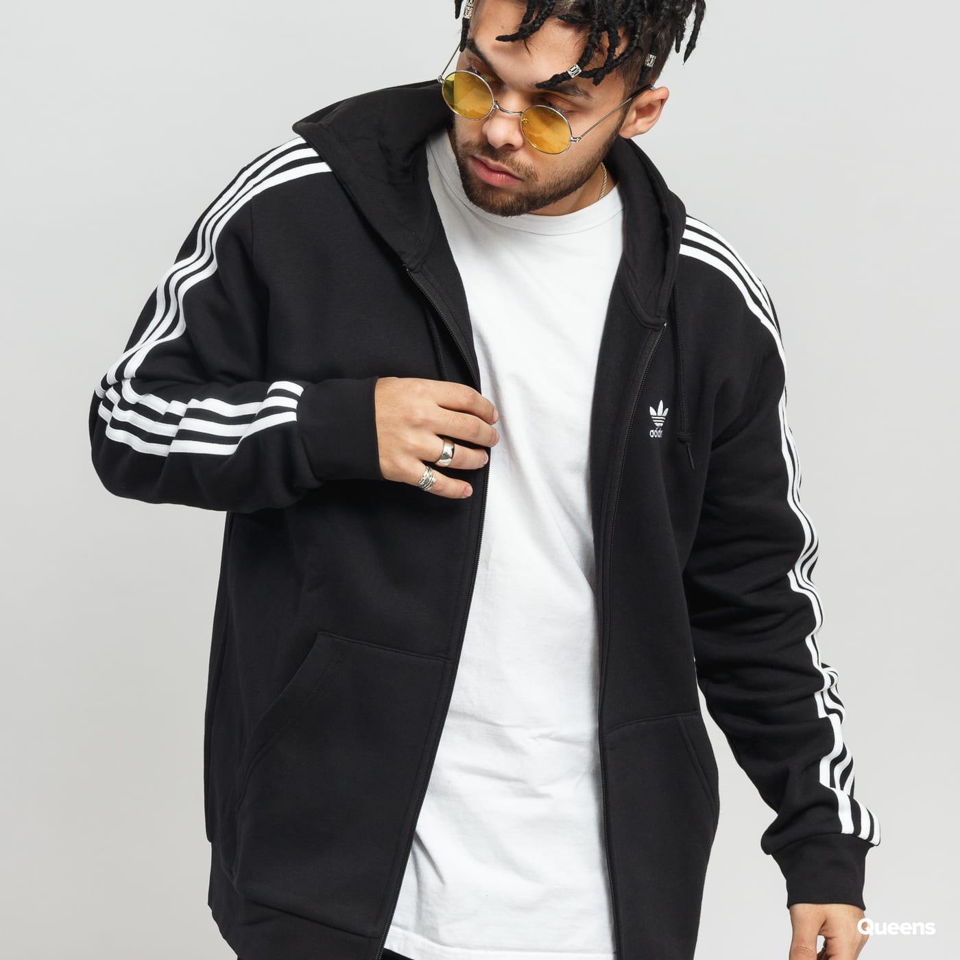 adidas Originals 3-Stripes FZ čierna