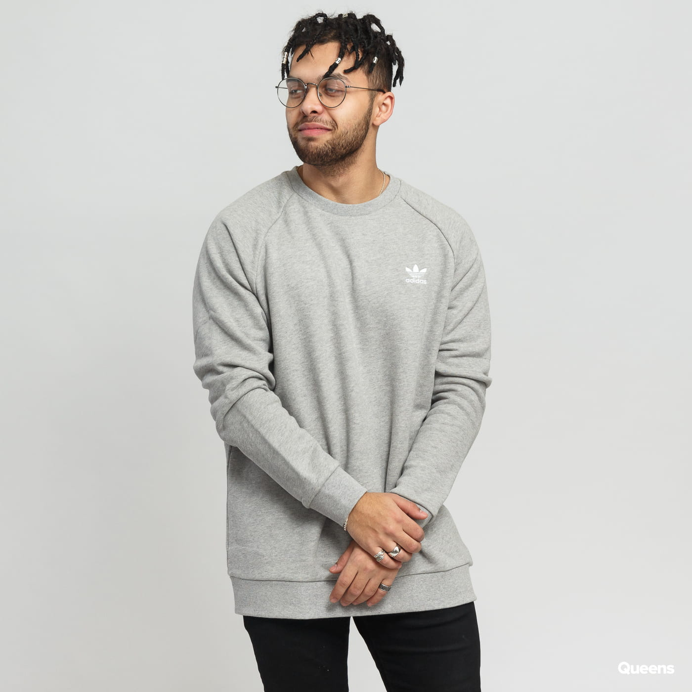 adidas Originals Essential Crew grey melange