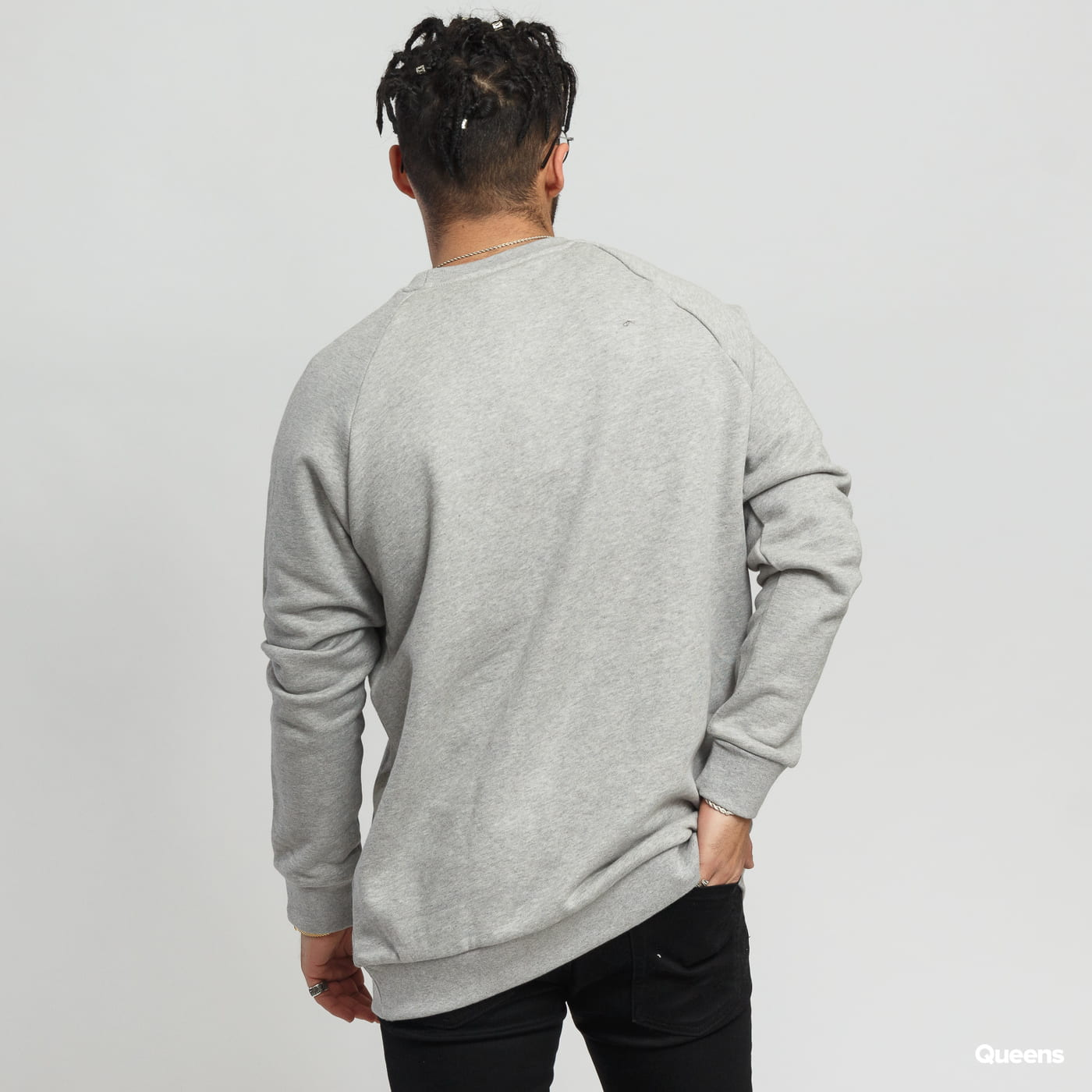 adidas Originals Essential Crew melange gray