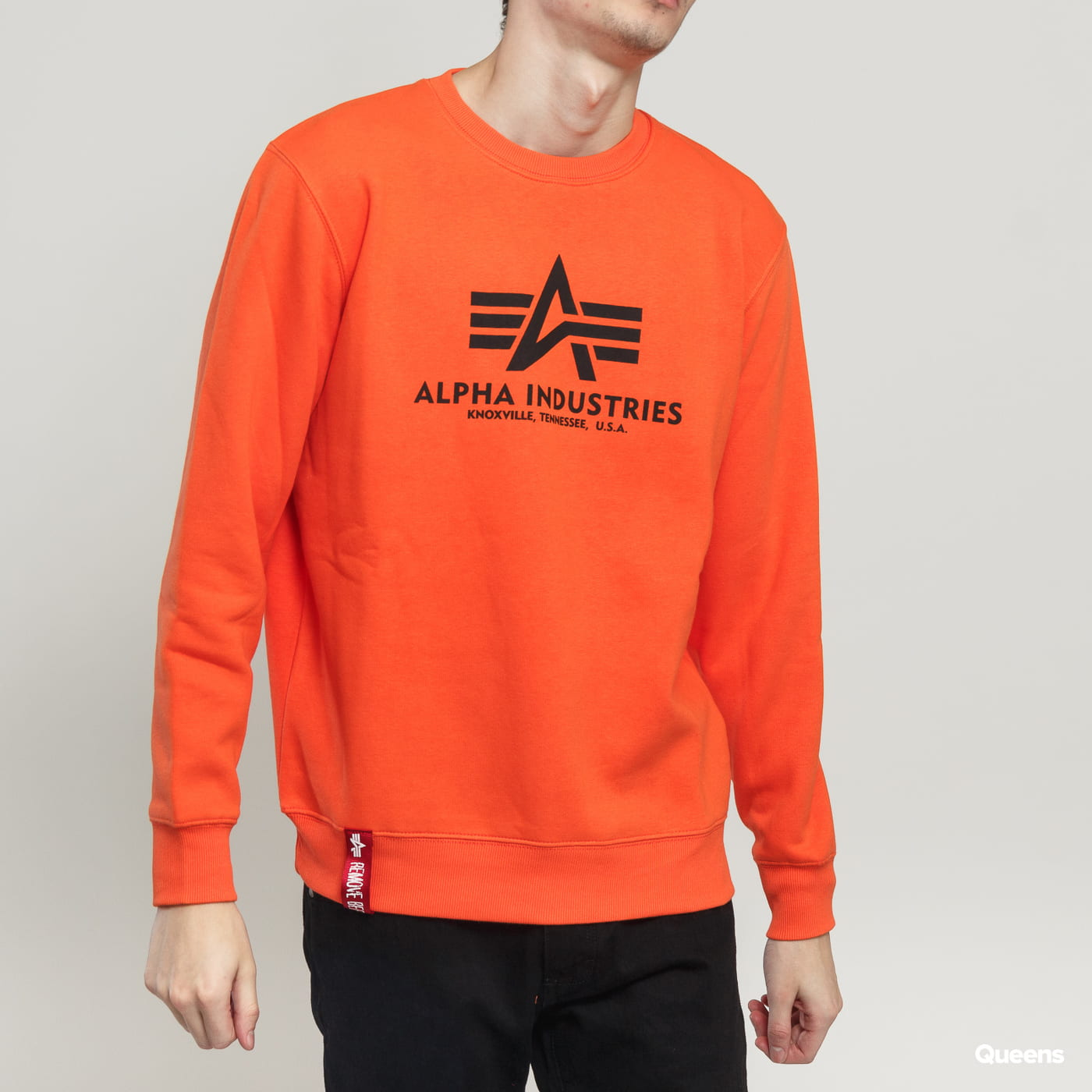 Alpha Industries Basic Sweater oranžová