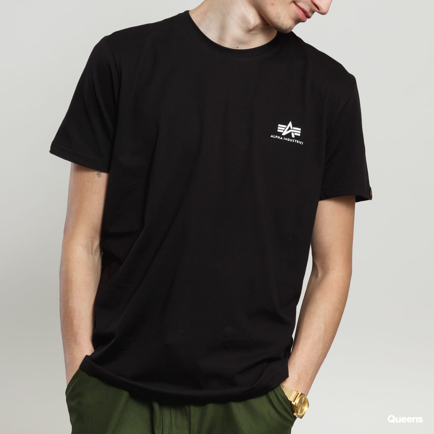 Alpha Industries Basic Tee Small Logo puma black