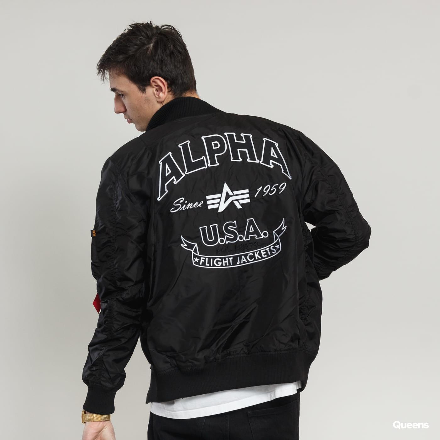 Alpha Industries MA-1 TT Patch SF čierna